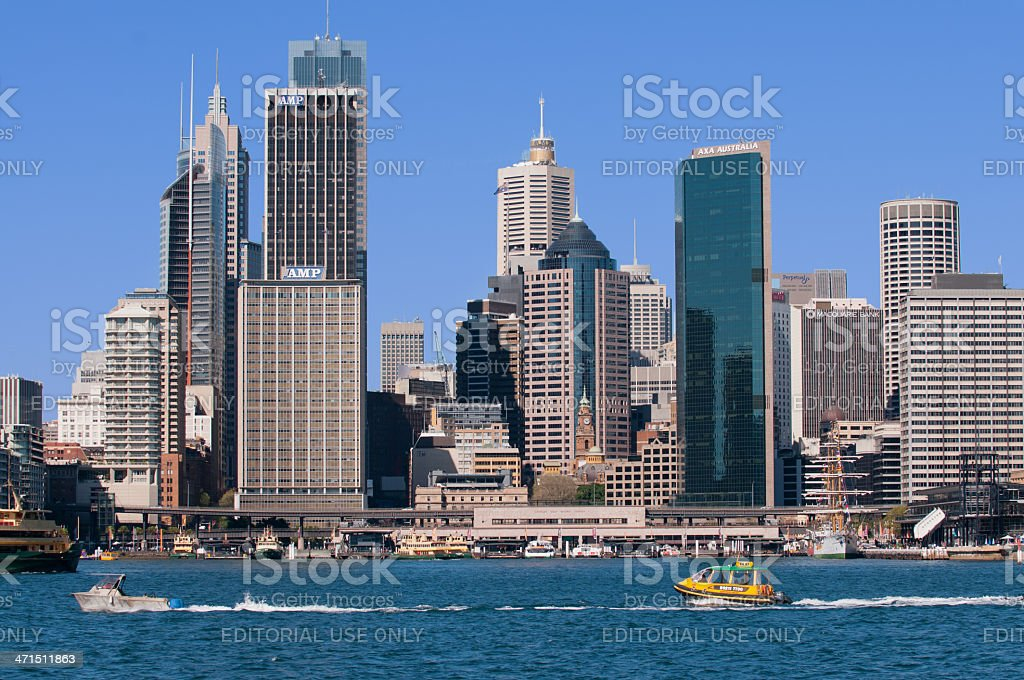 Circular Quay in Sydney royalty-free stock photo