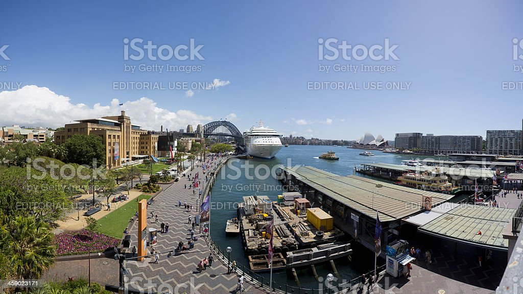 Circular Quay, Opera House and Bridge Sydney, Australia royalty-free stock photo