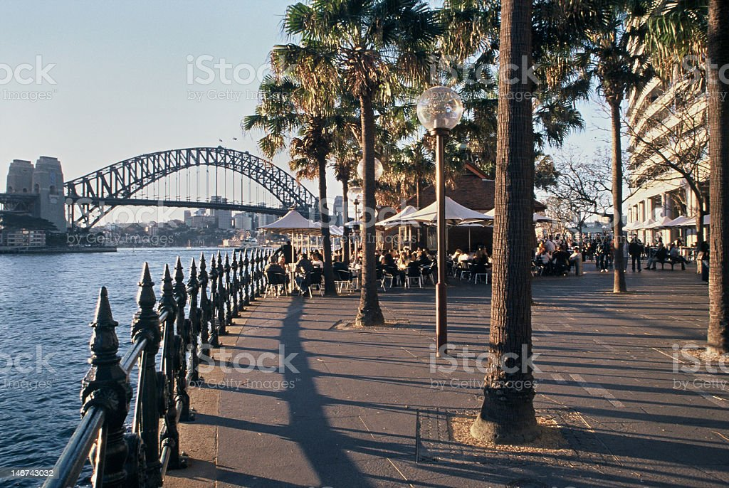 Circular Quay Promenade royalty-free stock photo