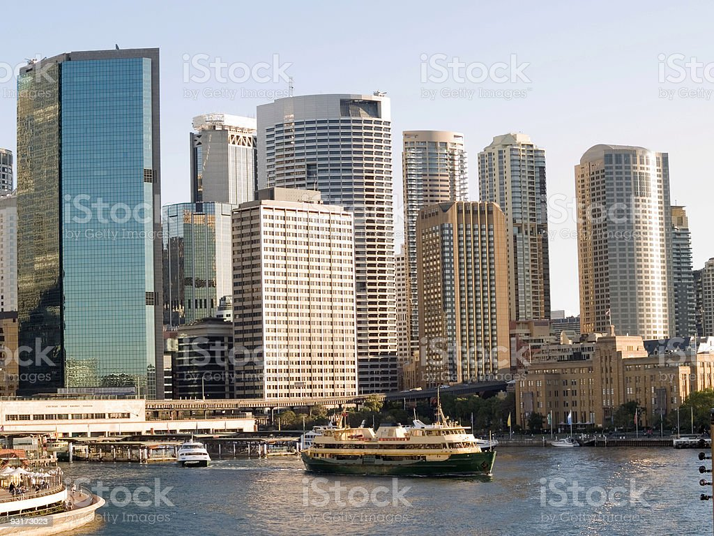 Circular Quay, Sydney Harbour royalty-free stock photo