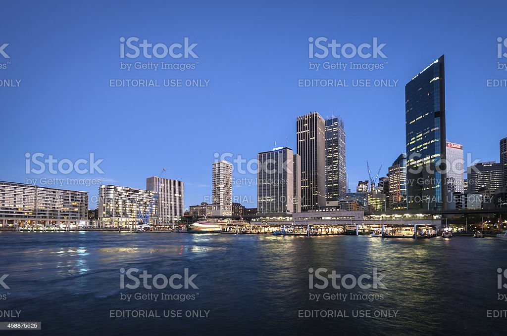 Circular Quay with a reflections stock photo