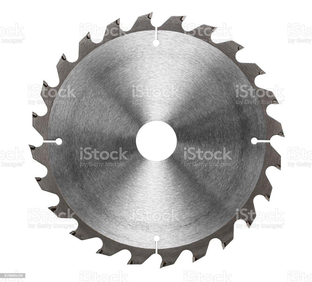Circular saw blade for wood work stock photo