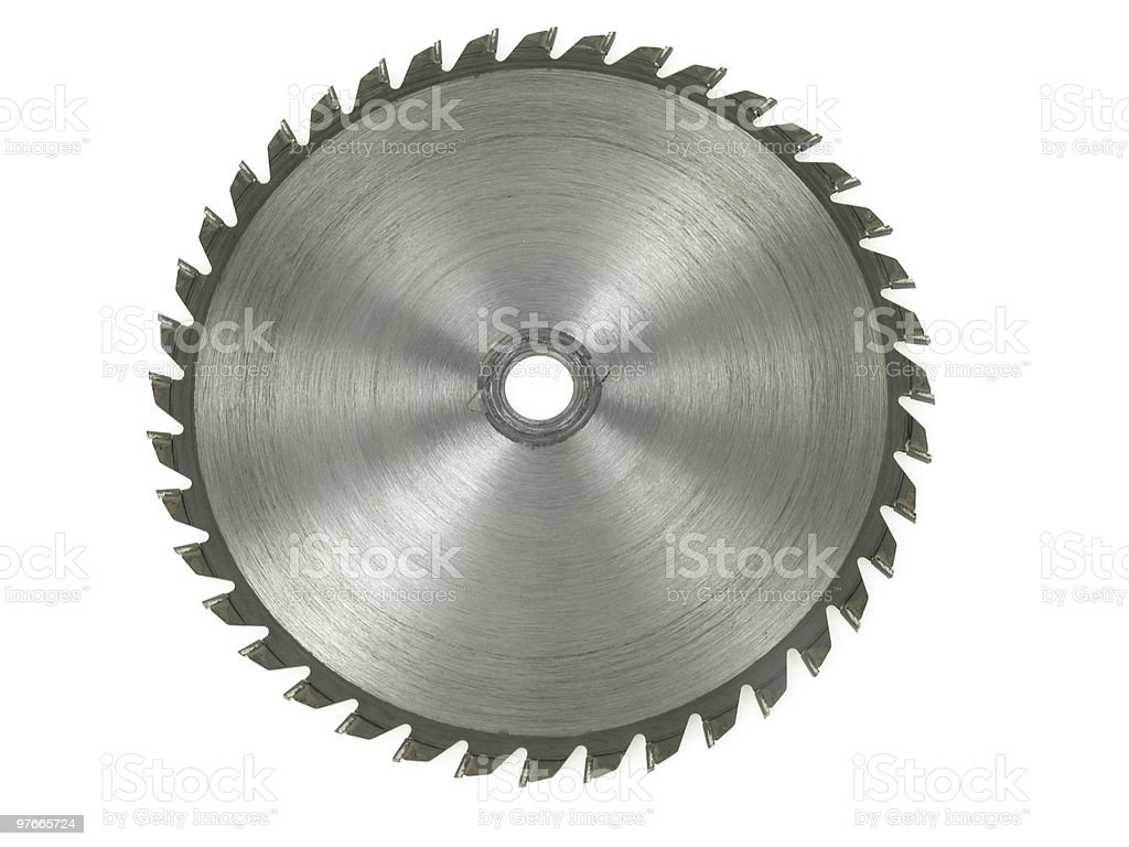 Circular saw on a white background stock photo