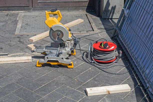 Circular Saw Workstation stock photo
