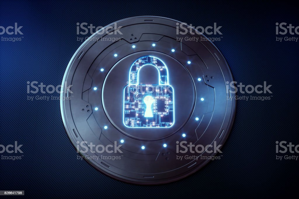 Circular Security Device stock photo