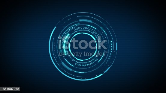 istock Circular shape abstract technology background 681907278