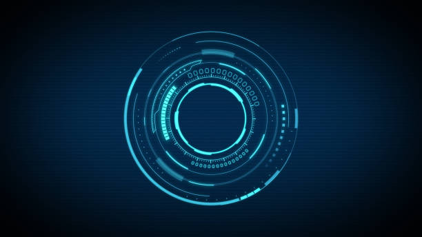 circular shape abstract technology background - circle stock pictures, royalty-free photos & images