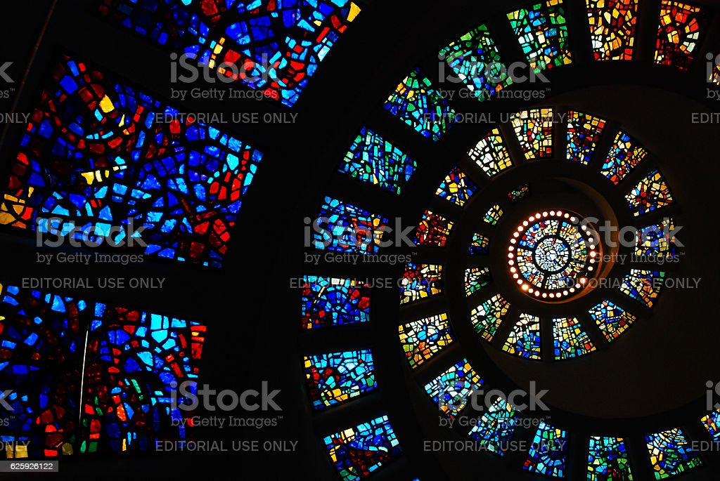 Circular Stained Glass stock photo