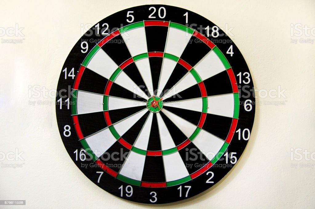 Circular target marked stock photo