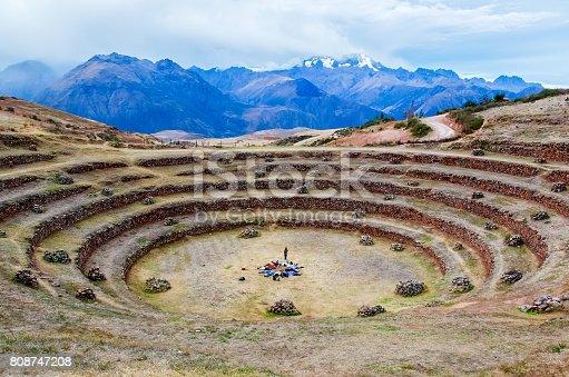 istock Circular terraces of Peru 808747208