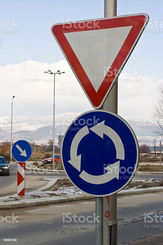 Circular traffic royalty-free stock photo