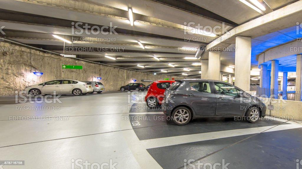 Circular Underground parking stock photo