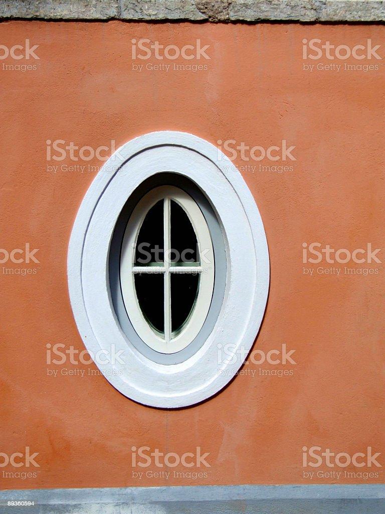 Circular unique window royalty free stockfoto