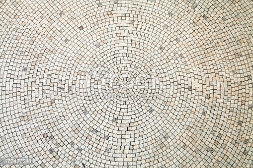 istock Circular White Tiles Background 172477241