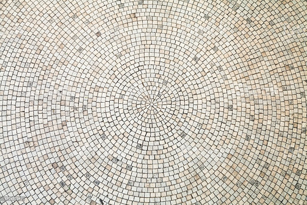 Circular White Tiles Background stock photo