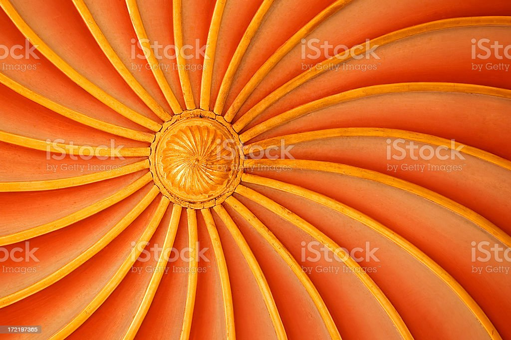 Circular Wooden Ceiling royalty-free stock photo