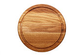 circular wooden cutting board