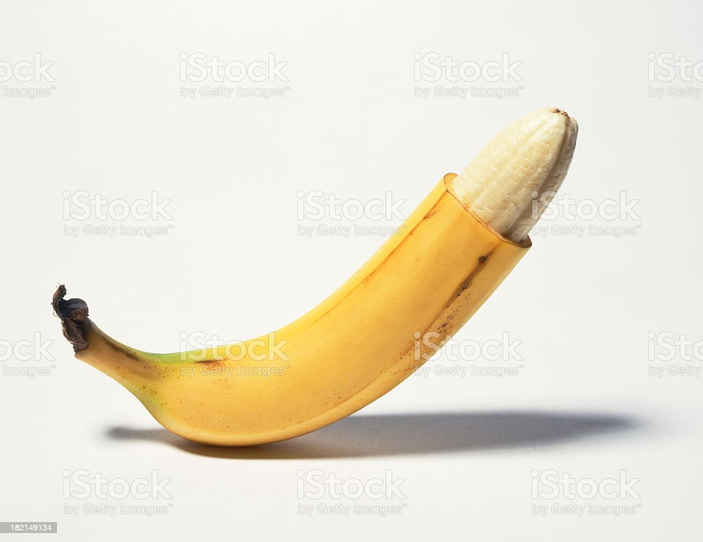 Circumcised banana stock photo