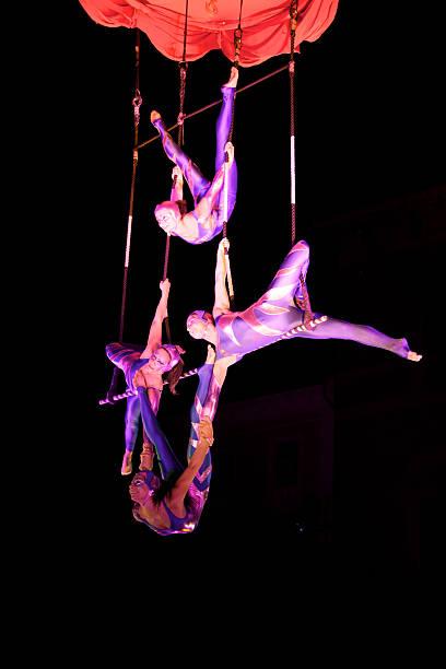zirkus künstler - trapez stock-fotos und bilder