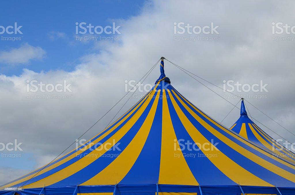 Circus big top canvas tent stock photo
