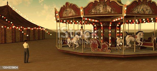 Circus Merry-go-around with family