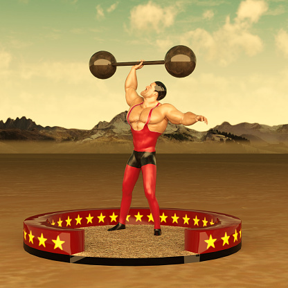 Old Fashioned Circus strongman