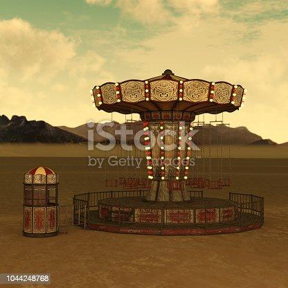 Retrospective Circus Carnival Chain Swing Ride