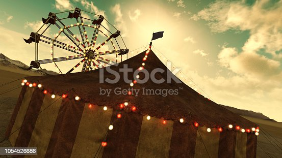 A retrospective style circus tent