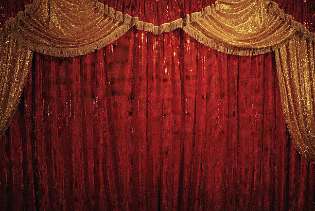 circus curtain - circus background stock photos and pictures