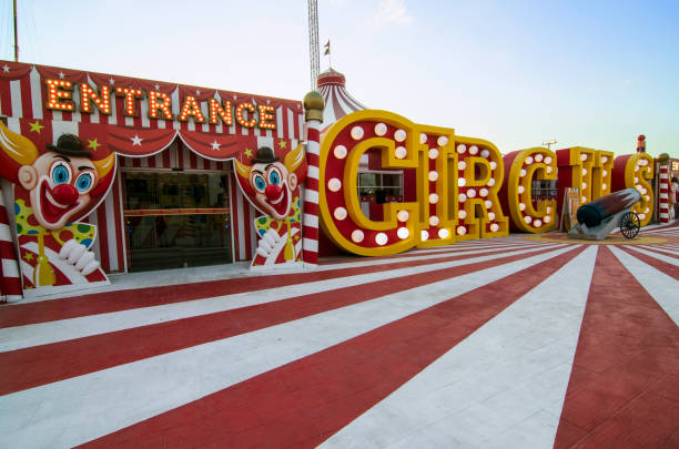 Circus Entrance at Global Village stock photo