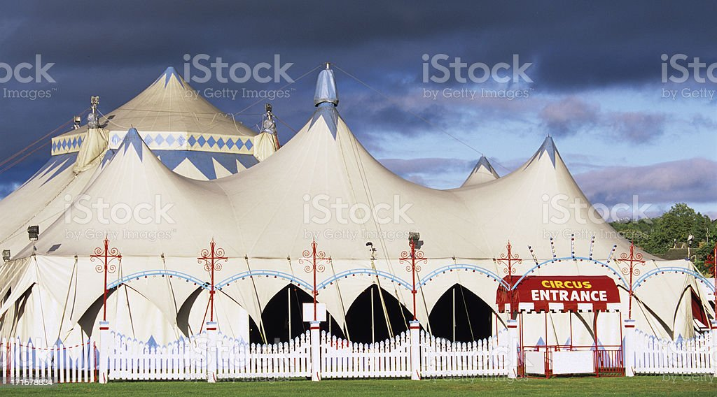 Circus entrance stock photo