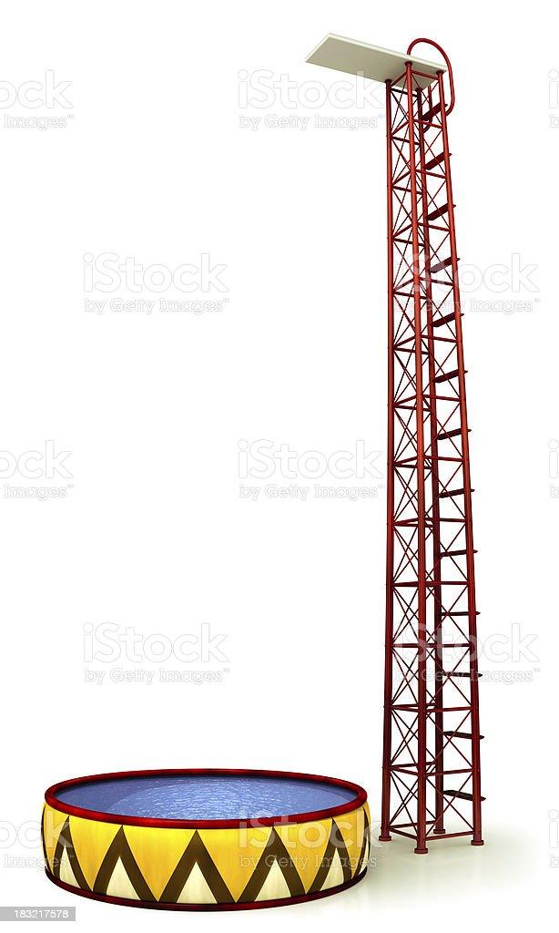 Circus high jump stock photo