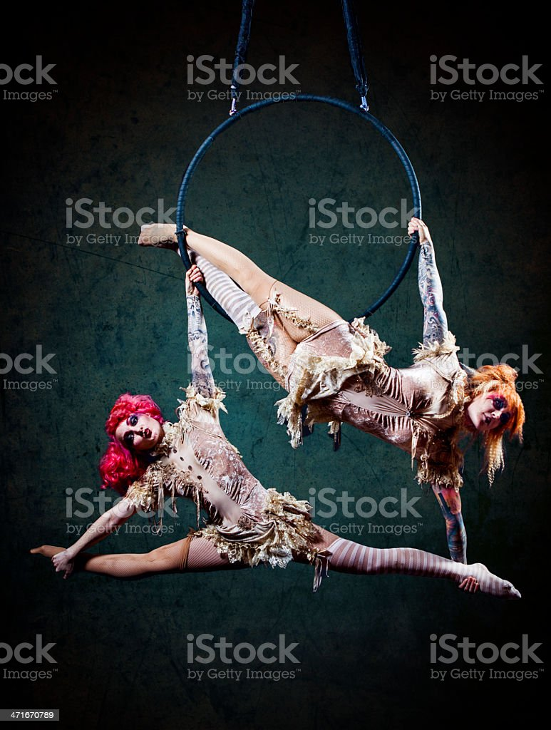 Circus Hoop Performers stock photo