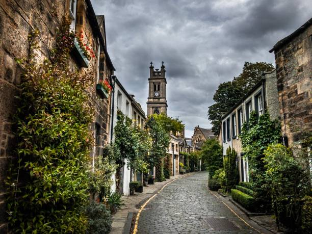Circus Lane, Edinburgh Scotland stock photo