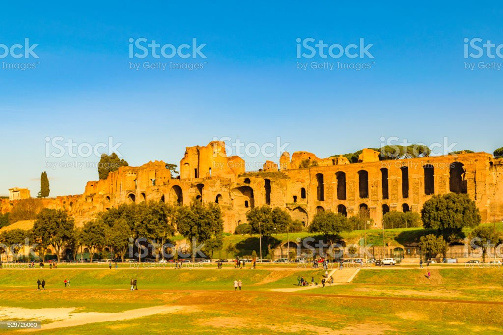 Circus Maximus Exterior View, Rome, Italy stock photo