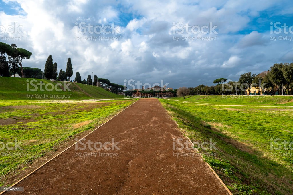 Circus Maximus in Rome in Italy stock photo