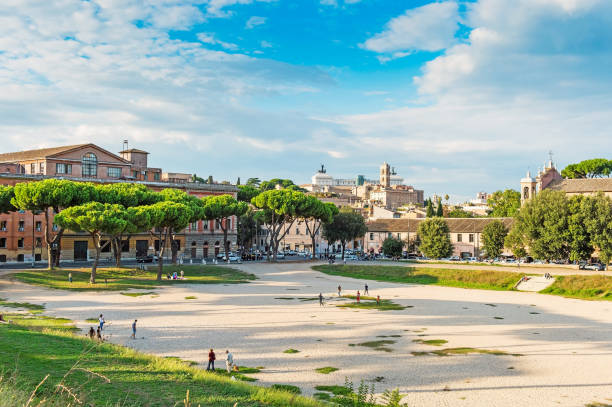 Circus Maximus in Rome. Rome is a famous tourist destination Circus Maximus in Rome. Rome is a famous tourist destination palatine hill rome stock pictures, royalty-free photos & images