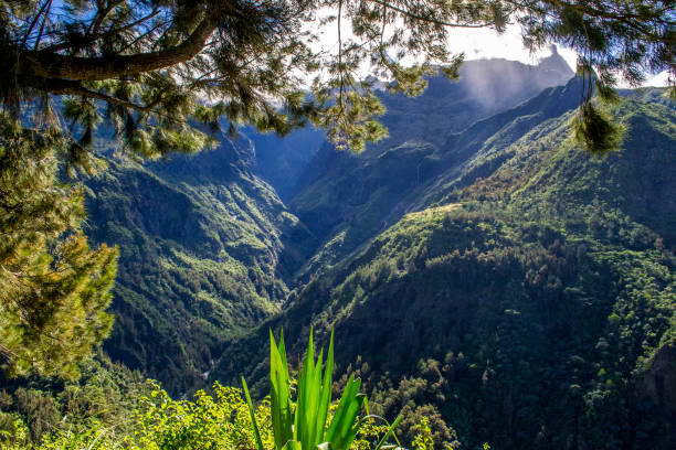 Cirque de Cilaos in La Reunion island stock photo