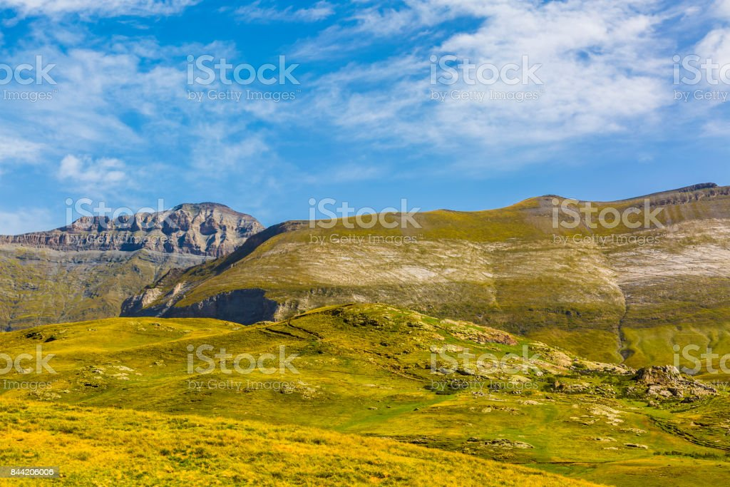 Circus of Troumouse in Pyrenees stock photo