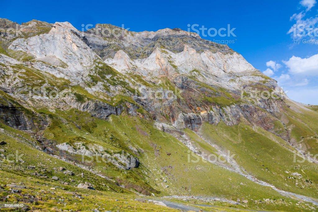 Circus of Troumouse, Pyrenees Mountains stock photo