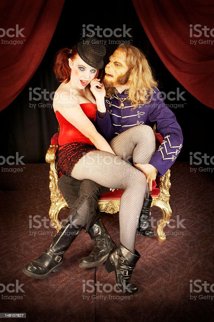Circus or Carnival Couple stock photo
