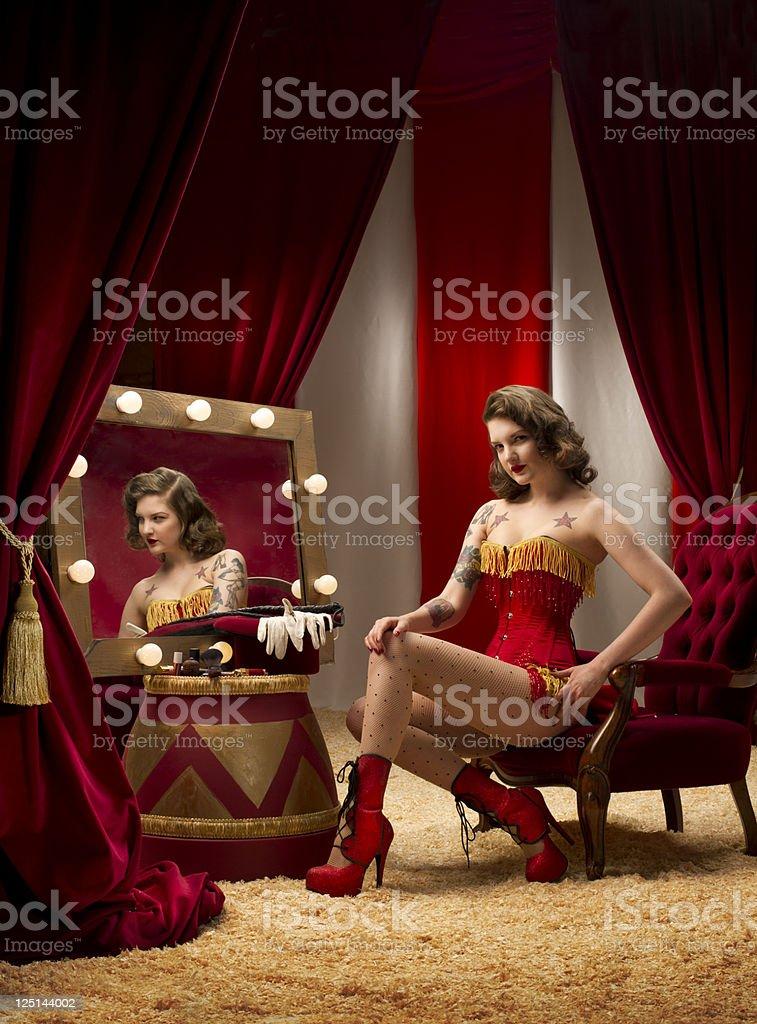 circus ringmaster burlesque stock photo
