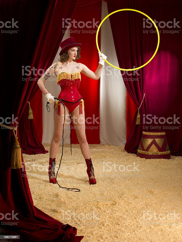 circus ringmaster stock photo