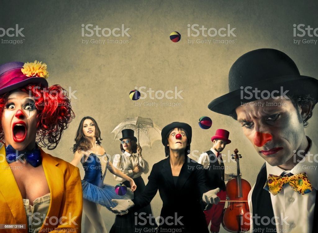 Circus society stock photo
