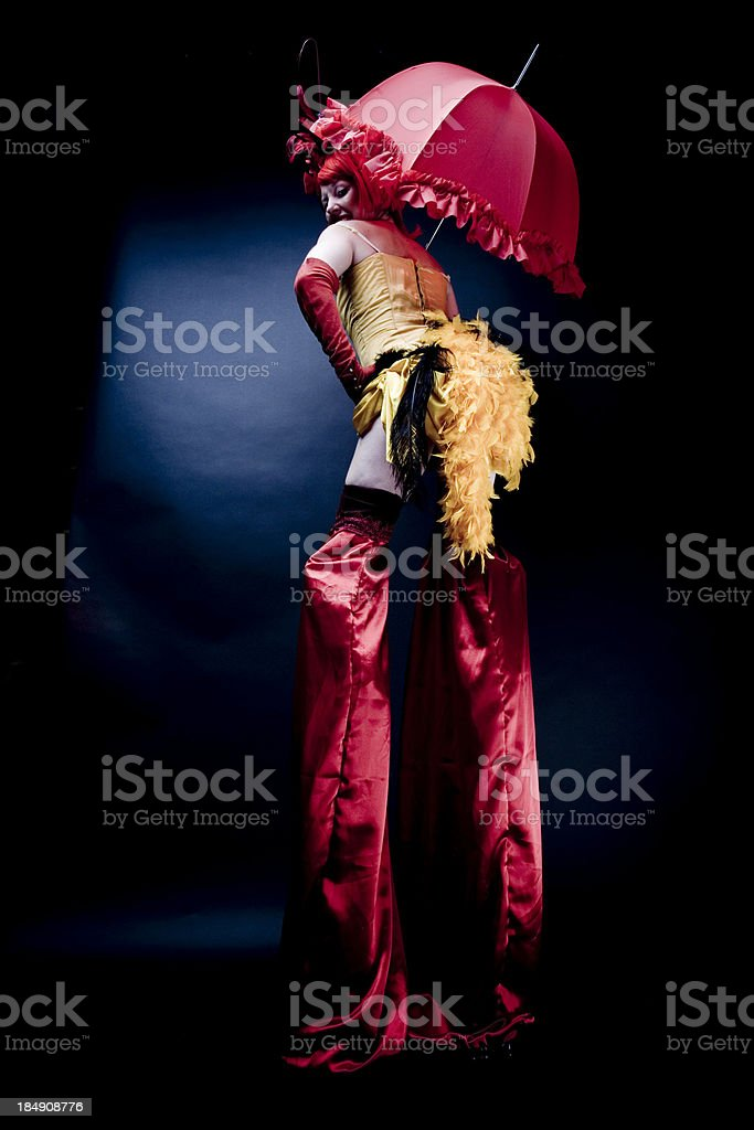 Circus Stilt Performer stock photo