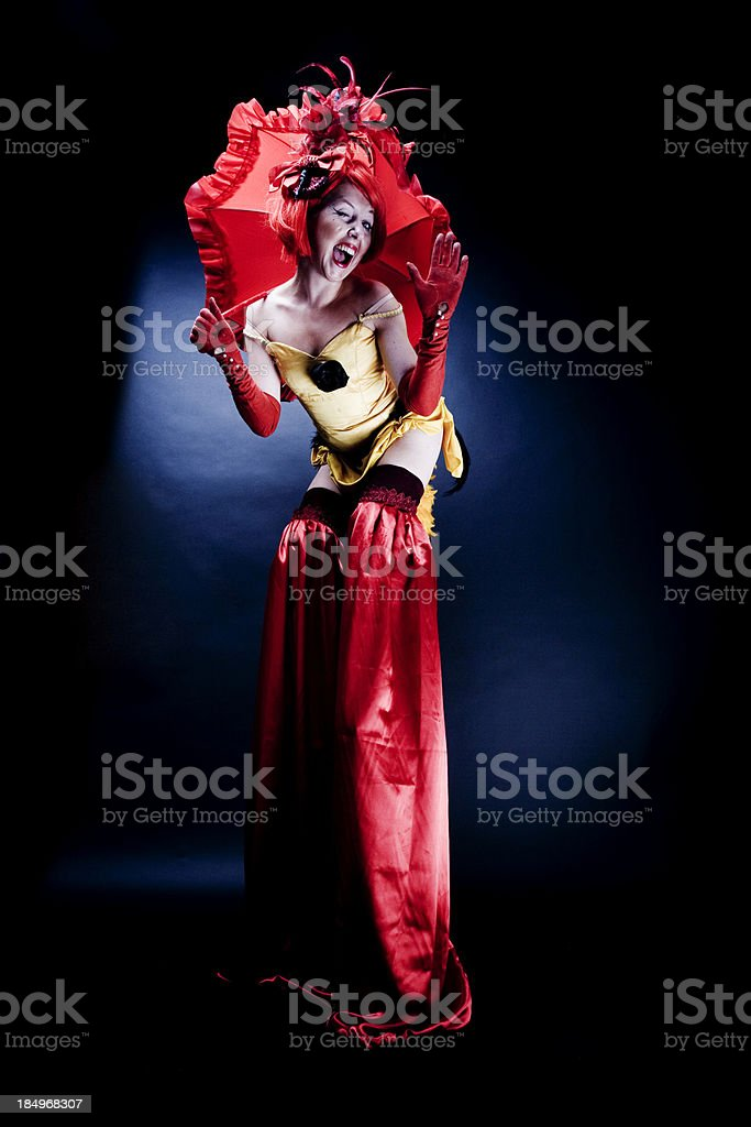 Circus Stilt Walker stock photo