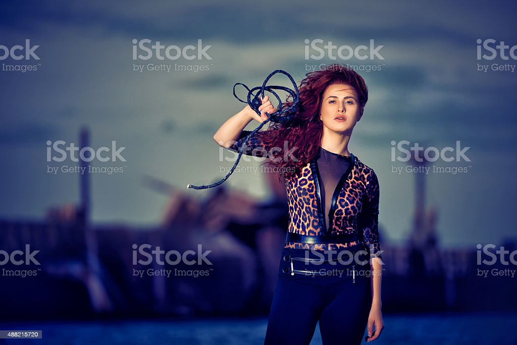 circus tamer stock photo