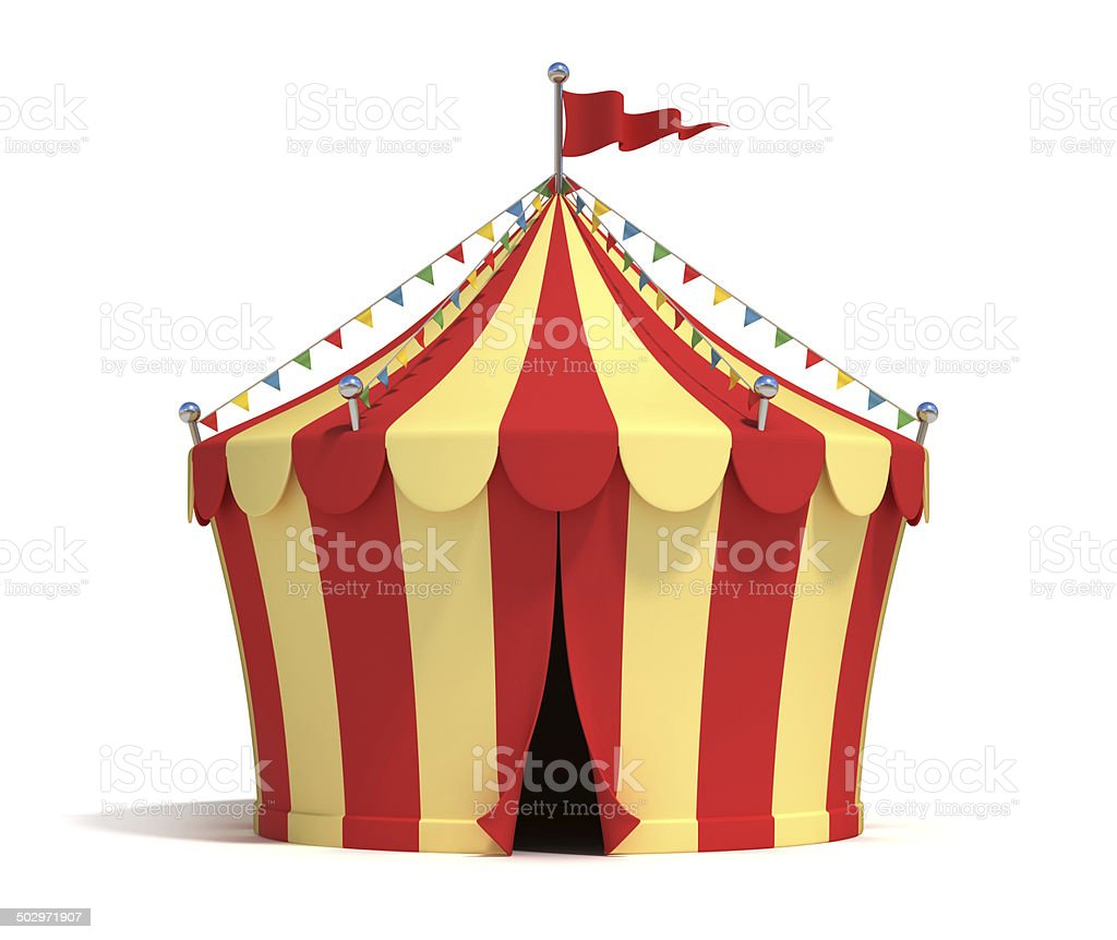 circus tent 3d illustration stock photo