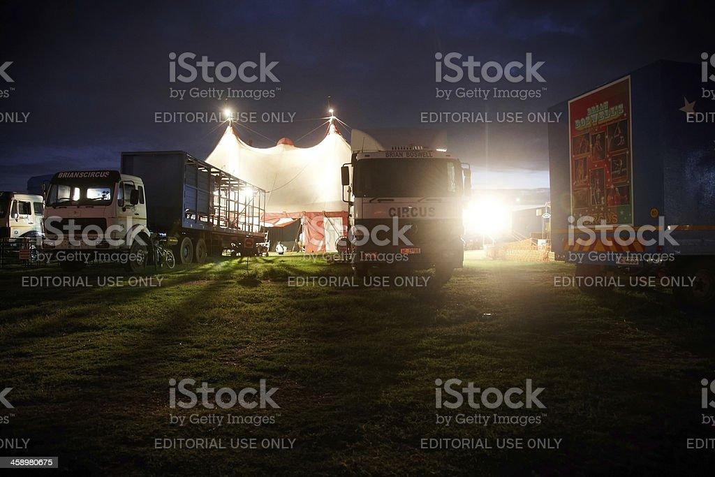 Circus tent at night royalty-free stock photo