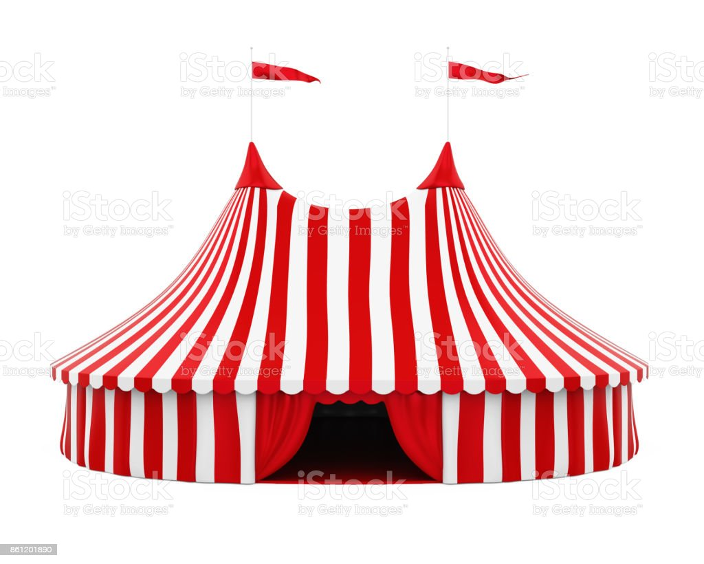 Circus Tent Isolated stock photo